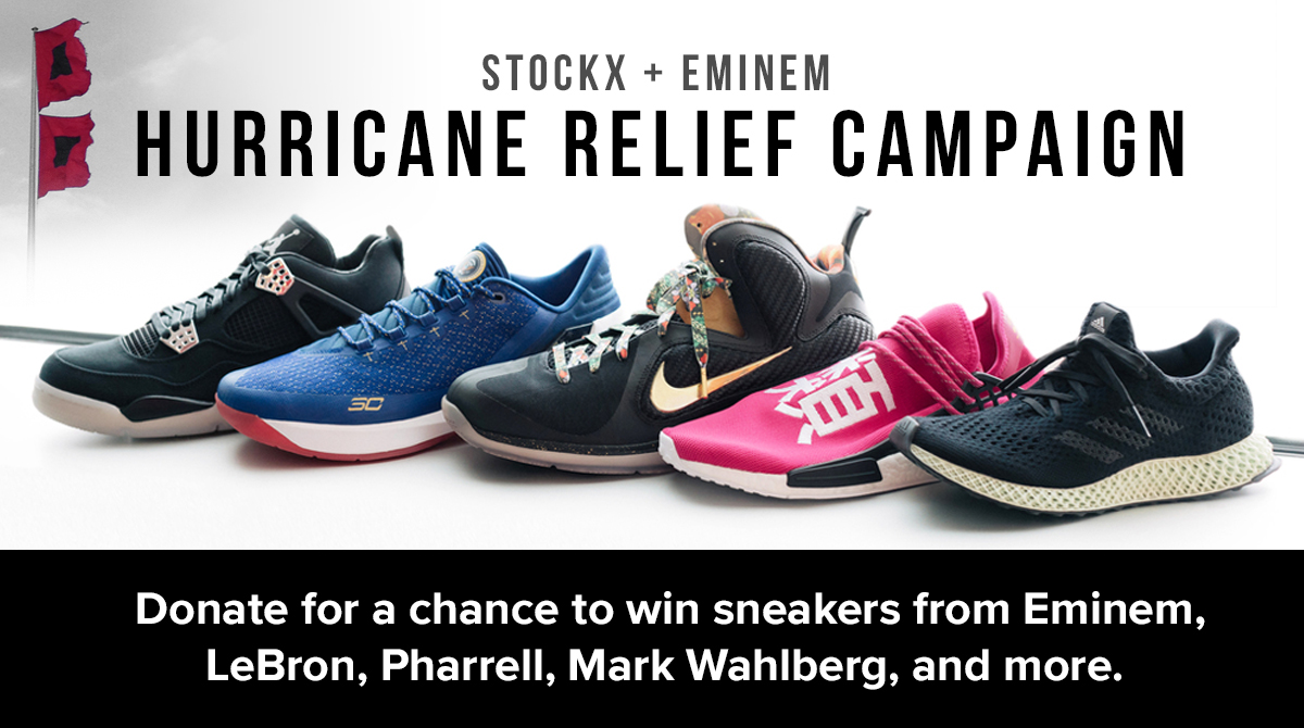 2befb76288cf5 StockX + Eminem  Hurricane Relief Campaign